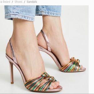 Veronica Beard Alessia metallic rainbow sandal 9.5